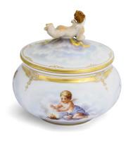 Шкатулка с ангелочком на крышке, «Аллегория Времен Года»