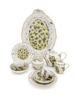 Чайный сервиз на две персоны «Бабочки и цветы»