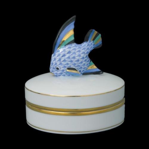 Fancy коробочка с крышкой, ручка в виде рыбки