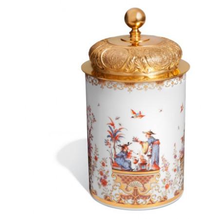 Коробочка для табака, роспись в стиле шинуазри по Хёрольду