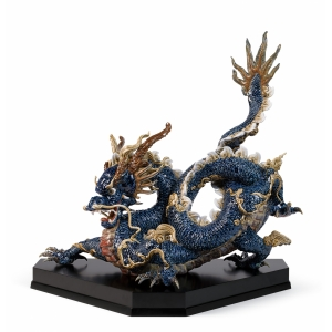 Дракон (синий с эмалью)