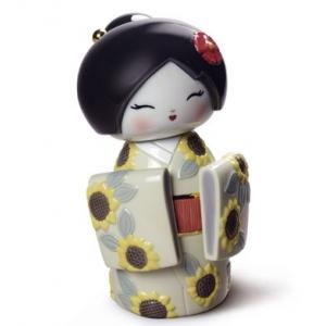 Японская кукла кокеши (подсолнухи)