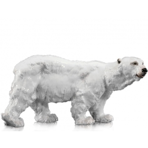 Белый медведь, малый, красочные росписи