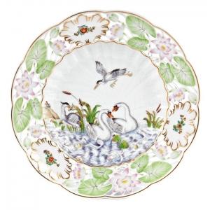 Тарелка, лебединый сервиз