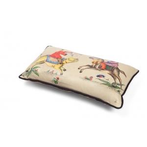 Подушка из натуральной кожи, ручная роспись