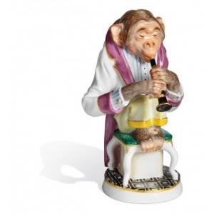 Шимпанзе с кларнетом