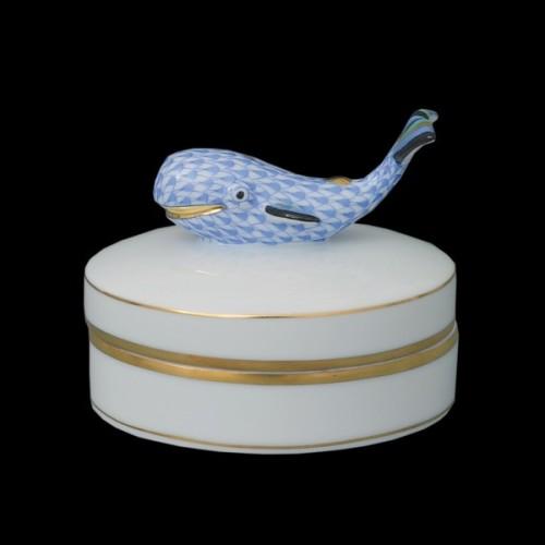Fancy коробочка с крышкой, ручка в виде кита