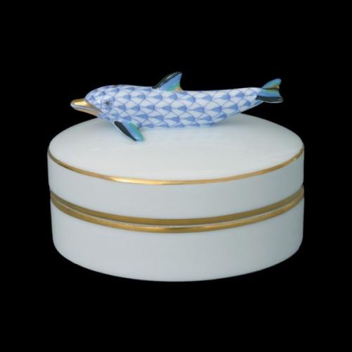 Бонбоньерка, ручка в виде дельфина