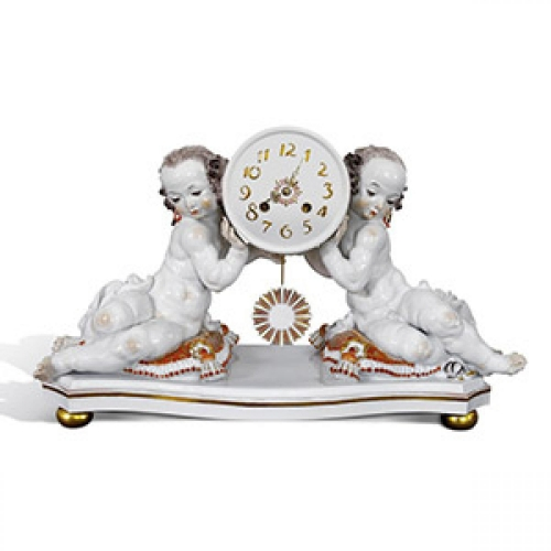 Clock with two putti