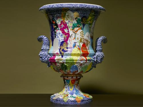 Кратерная ваза Майсенской мануфактуры стала исторической иконой искусства живописи по фарфору в Саксонии. (Meissen Icon Project)